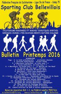 Bulletin printemps 2016